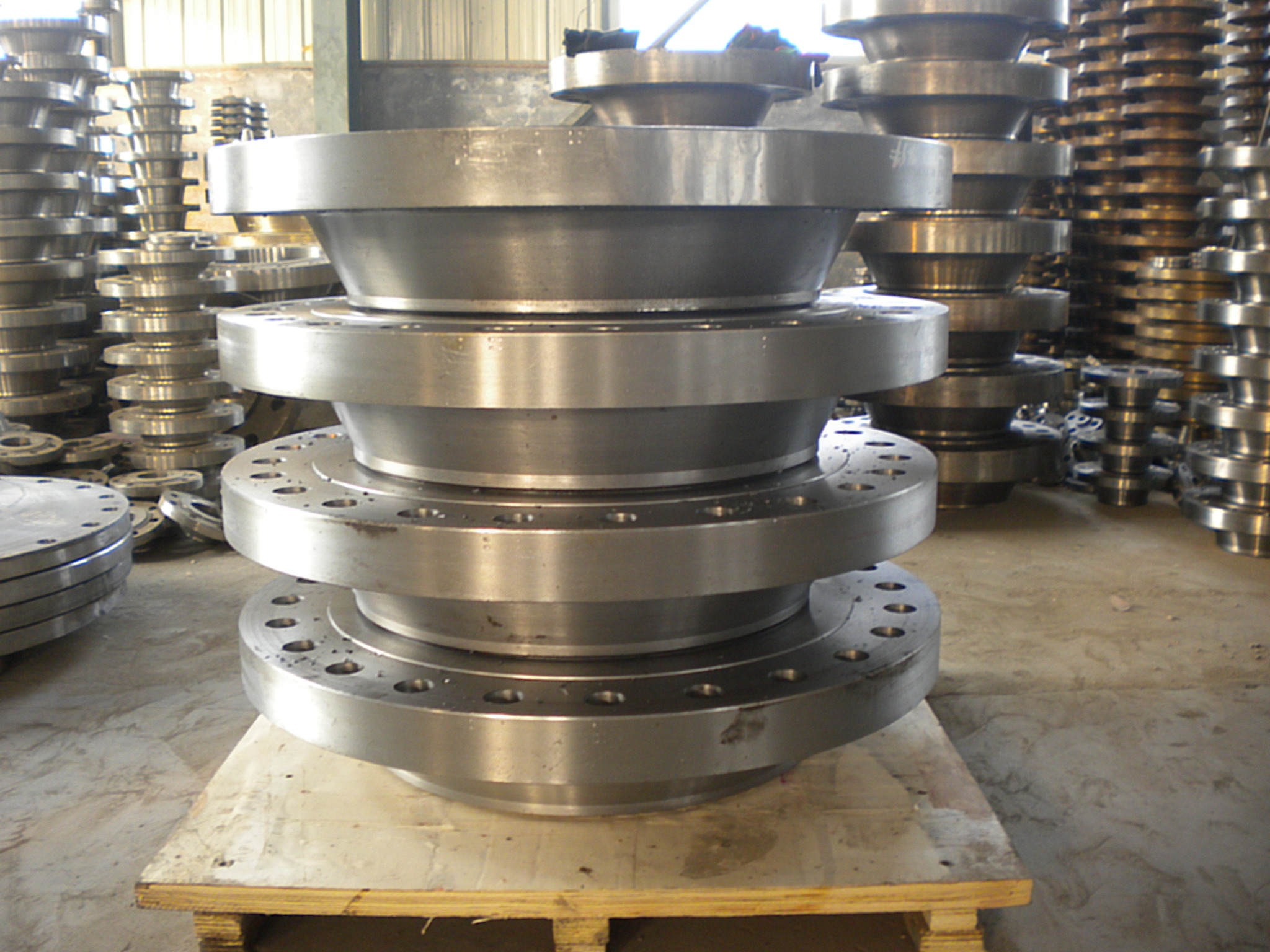 ASTM A105 Galvanized Threaded Flange